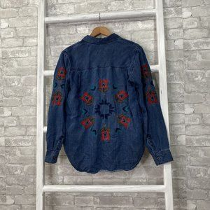 Rails Jalisco Embroidered Chambray Shirt Small